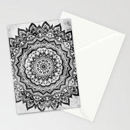 BLACK JEWEL MANDALA Stationery Cards