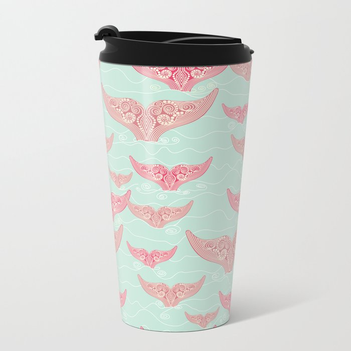 FINALLY! Whales are free from persecution! Metal Travel Mug