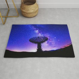 VLA Radio Telescope: Milky Way, night Rug