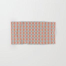 Coral Diamond Stripe Pattern Hand & Bath Towel