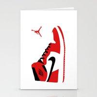 air jordan Stationery Cards featuring Air Jordan - Retro 1s by Alvarez Designs by: Mike Alvarez