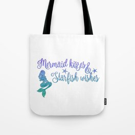 Mermaid Kisses Starfish Wishes Tote Bag