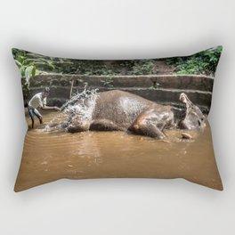 Happy elephant makes me happy Rectangular Pillow