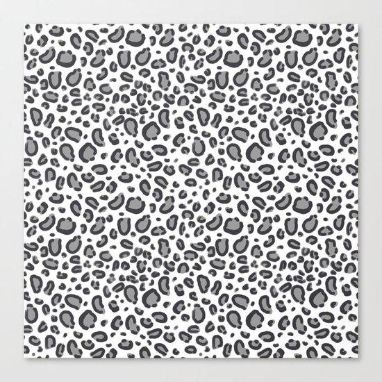 Cheetah pattern animal spots animal print pattern minimal black and white Canvas Print