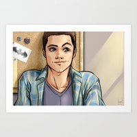 daunt Art Prints featuring Snark Nerdy To Me by Daunt
