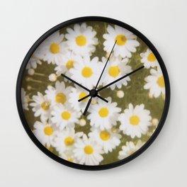 Retro Daisies Wall Clock