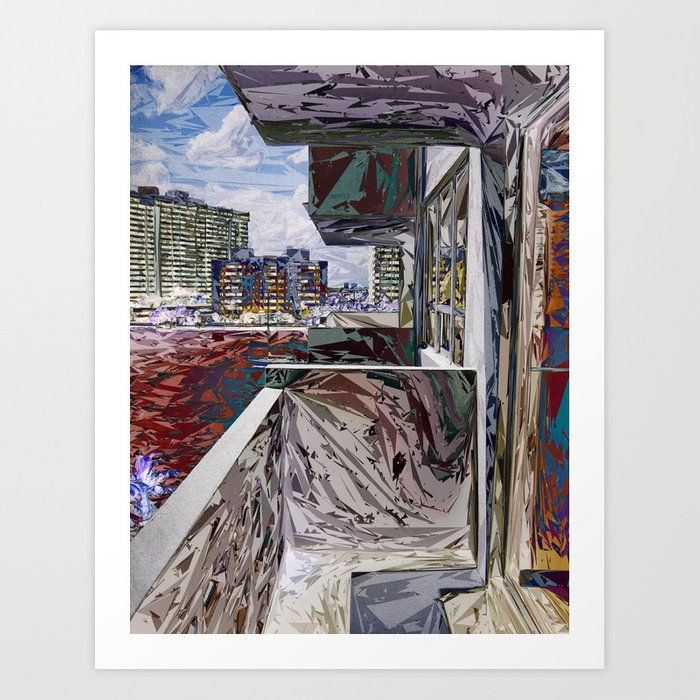 Abstract Urban Structure Art Print