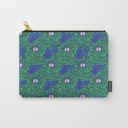 Green Blue and Pink Snakeskin Eye Graphic Carry-All Pouch