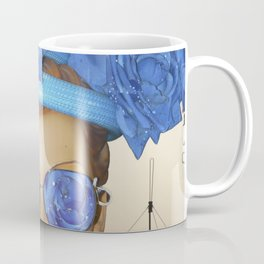 Submision 101 - Artificial Connection: blue roses with green. Coffee Mug