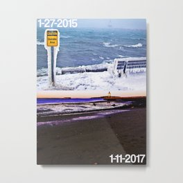 January 2015 vs. 2017 at Spring Point Ledge Lighthouse in Maine Metal Print
