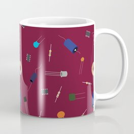 Circuit Elements - Maroon Coffee Mug