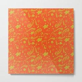 Yellow/green + Orange Spring Folliage SS18 Metal Print