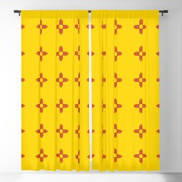 flag of new mexico 3 Blackout Curtain