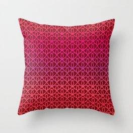 Pattern on burgundy background for Valentine's Day Throw Pillow