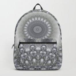 Silver and Ivory Mandala Backpack