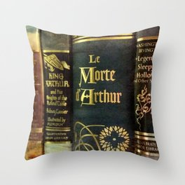Adventure Library Throw Pillow