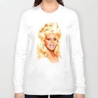 rupaul Long Sleeve T-shirts featuring RuPaul - Supermodel - Pop Art by William Cuccio aka WCSmack