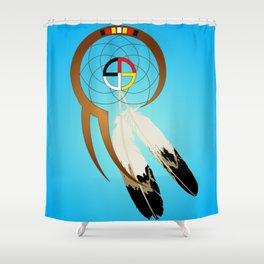 dreamcatcher blue Shower Curtain