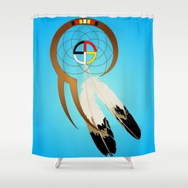 dreamcatcher blue Shower Curtain