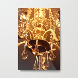 Shabby Chandelier Bling Metal Print