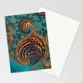 Glowing Embers - Fractal Art  Stationery Cards
