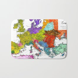 The Peoples of Europe According to Ptolemy Bath Mat