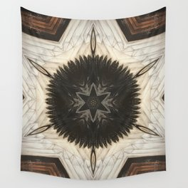 Quartz and Feather // Magical Visionary Shamanic Art Crystal Grid Energy Healing Peace Sacred Star Wall Tapestry