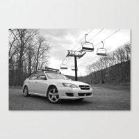 subaru Canvas Prints featuring Subaru Legacy by 218studio
