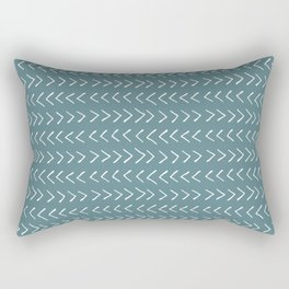 Arrows on Horizon Blue Rectangular Pillow