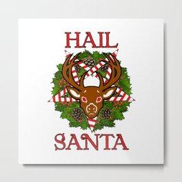 Hail Santa Pentagram Door Hanger Christmas Metal Print