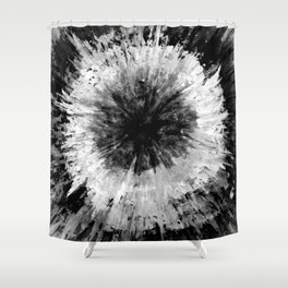 Black and White Tie Dye // Painted // Multi Media Shower Curtain