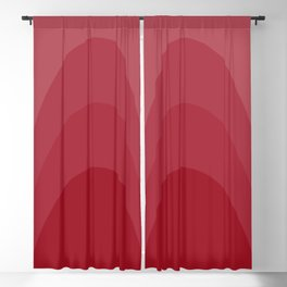Four Shades of Red Curved Blackout Curtain