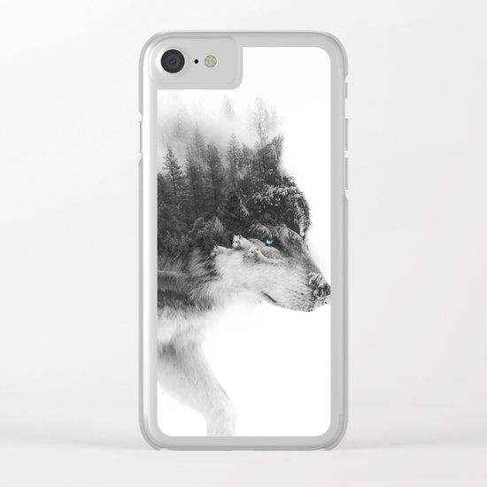 Wolf Stalking Clear iPhone Case