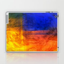 Red Blue Scratch Laptop & iPad Skin