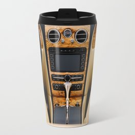 Classic Car Interior With Dashboard View Travel Mug