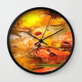 TEXTURES: Koi Swarm Wall Clock