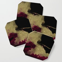 Black Honey - resin abstract painting Coaster