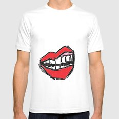 Rough sketch of Lips. White MEDIUM Mens Fitted Tee
