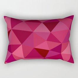 Rose Petals Low Poly Rectangular Pillow