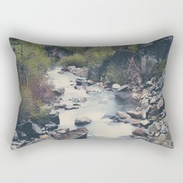 a mountain stream weaves down amongst the trees above Lake Tahoe Rectangular Pillow