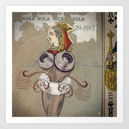 Reine des Coeurs Retraite Art Print