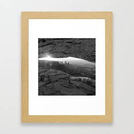 Canyon Light - Mesa Arch Monochrome 1x1 Framed Art Print