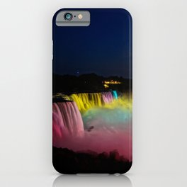 Niagara Falls Illumination Green iPhone Case