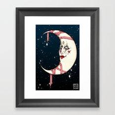 The Clown Moon Framed Art Print