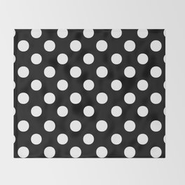Polka Dots (White/Black) Throw Blanket