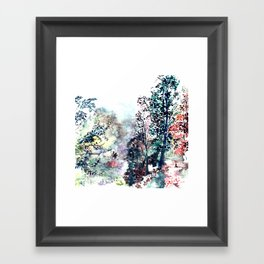 """Hand painted watercolor art """"Walking on the forest"""" Framed Art Print"""