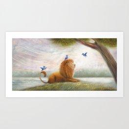 Friendly Lion by P.S. Brooks Art Print