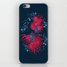Fighting fish iPhone & iPod Skin