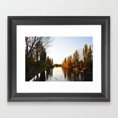 Pond at Afternoon Framed Art Print