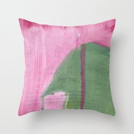 he never really thought he'd leave Throw Pillow